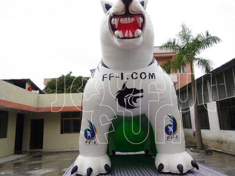 High Standard Good Looking Inflatable Huskie Dog Advertising Model