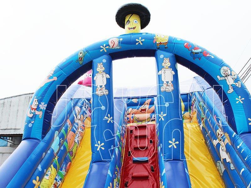 High Quality Spongebob Patrick Star Squidward Inflatable Slide