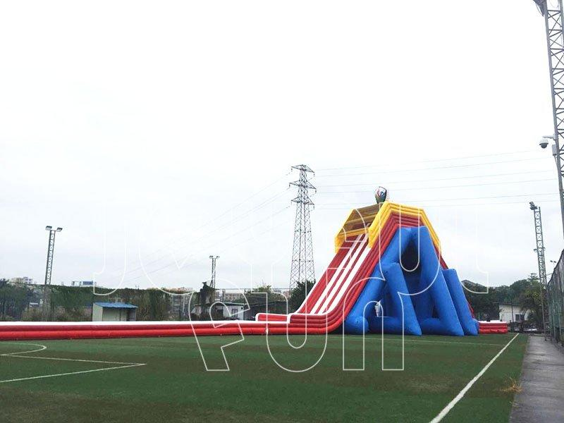 Giant High Quality 4 lanes Hippo Inflatable Water Slide