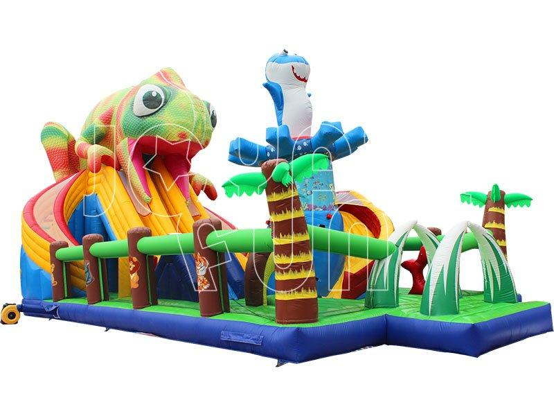 Jungle Chameleon Inflatable Slide Playground