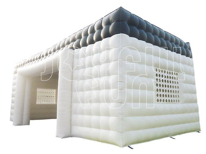 White Black PVC Tarp Big Square Inflatable Tent Canopy