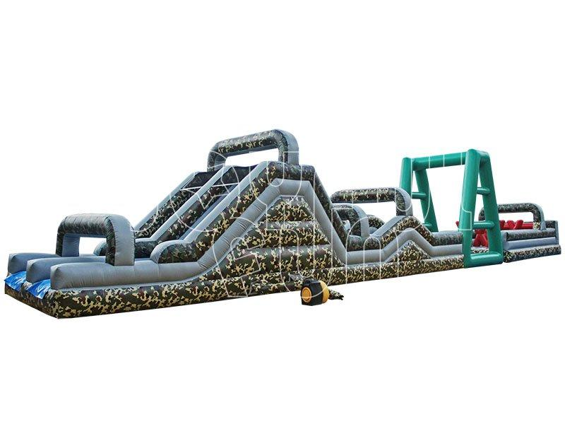 Boot Camp Camouflage Big Inflatable Ninja Warrior Obstacle Course