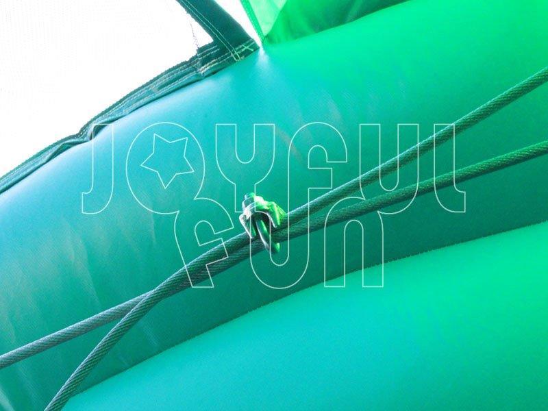 Big Rock Marble Inflatable Slide Zip Line Game