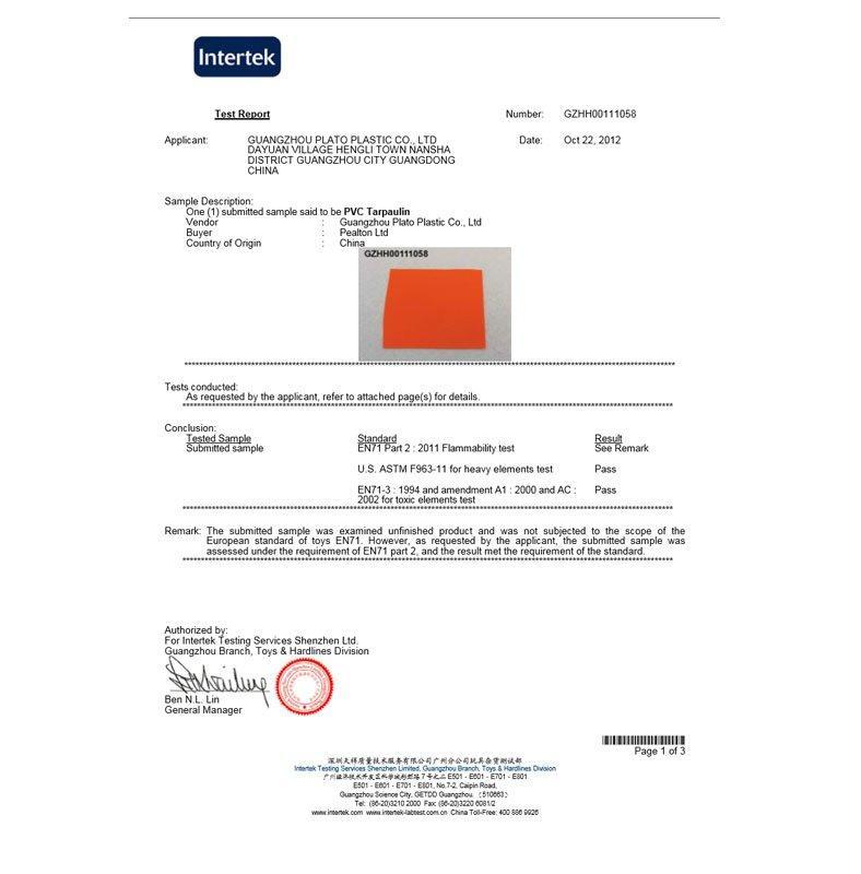 Joyful Fun Inflatables Material CE EN71 Certificate