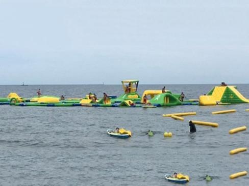 A Floating Inflatable Water Obstacle Course To Open On Lake Michigan In Whiting, Indiana
