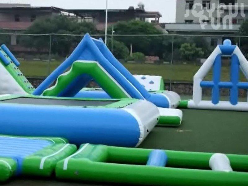 Good Quality 0.9MM PVC TARP Open Water Inflatable Floating Water Park