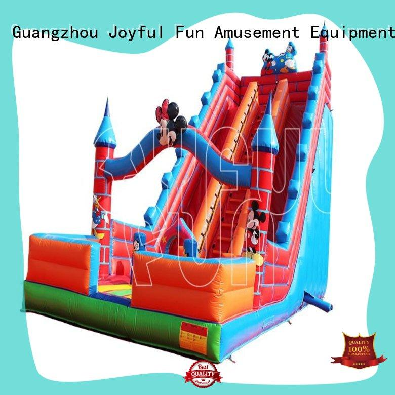 Joyful Fun quality inflatable dry slide directly sale for outdoor
