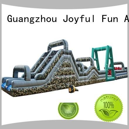 Joyful Fun quality inflatable obstacle course customized for outdoor