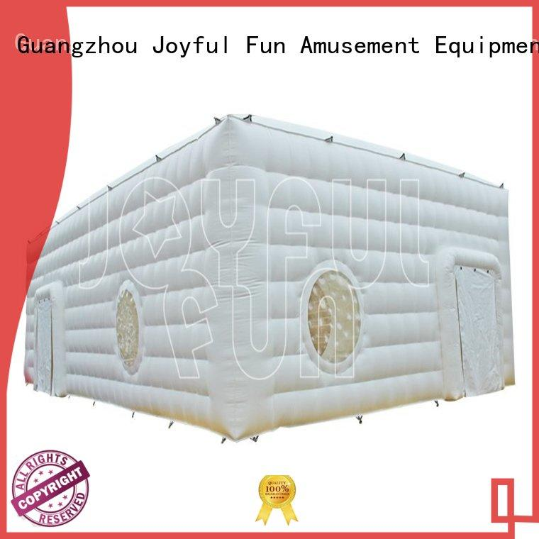 Joyful Fun windows inflatable cube tent factory for lake
