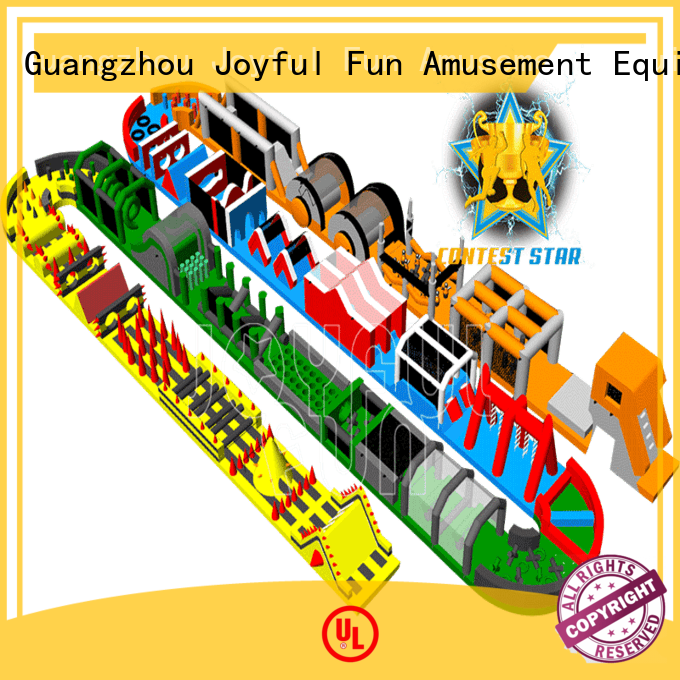 Joyful Fun practical inflatable obstacle run customized for park