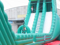 Joyful Fun 2018 NEW Inflatable Zip Line Challenge