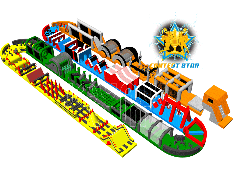 The Biggest Beast Adrenaline Warrior Inflatable Obstacle Course