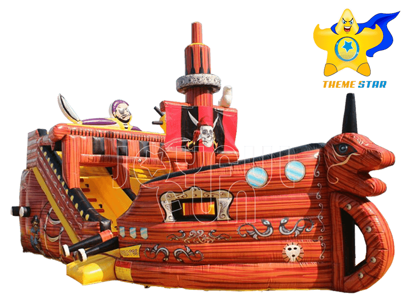 Good Quality Pirate Ship Inflatable Slide Playground