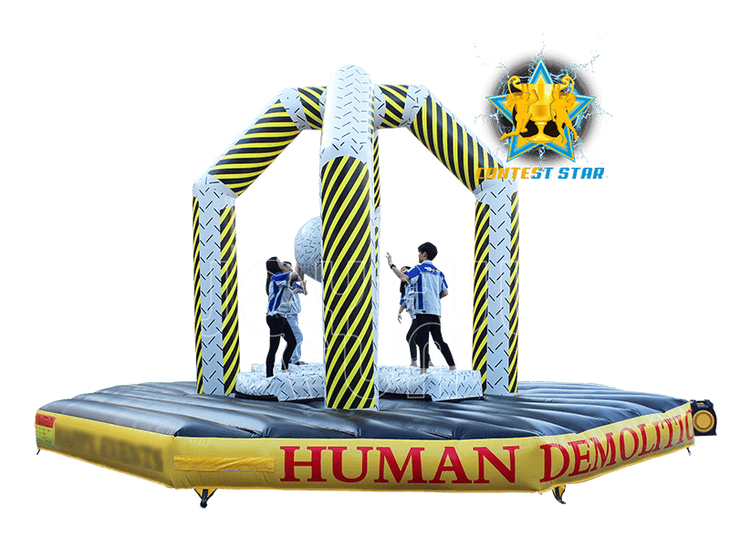 High Quality Human Demolition Zone Inflatable Wrecking Ball Game