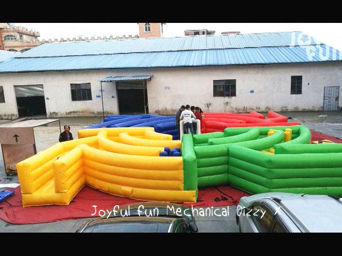 JOYFUL FUN Interactive Mechanical Inflatable Dizzy X Running Challenge Game