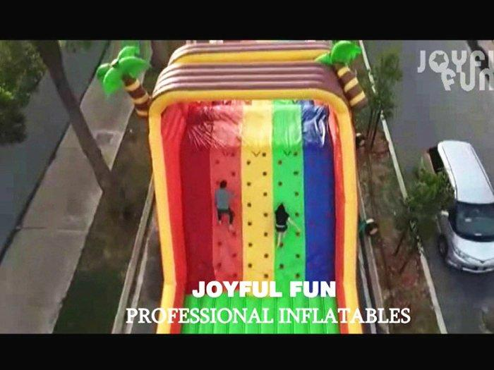 Joyful Fun High Quality Large Warrior Inflatable Obstacle Course