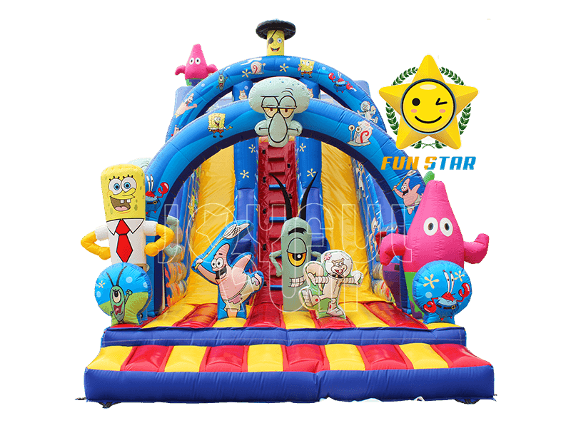 High Quality Spongebob Patrick Star Squidward Inflatable Slide