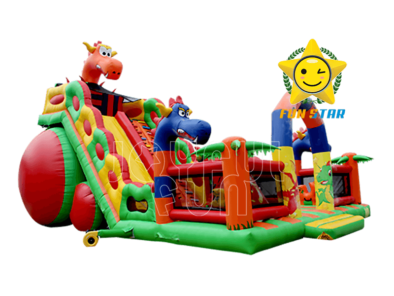 Joyful Fun Giant Russian Style Inflatable Dragon Slide Playground