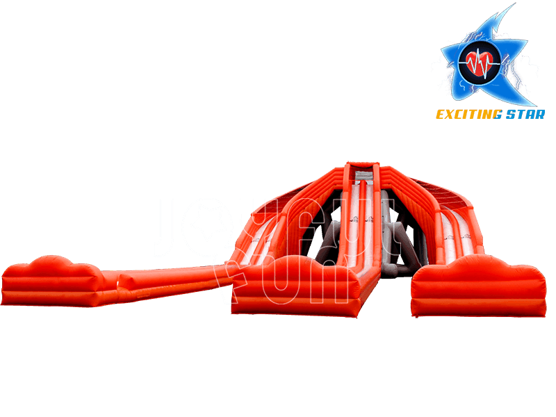 Super 3 Slide Slips Hippo Inflatable Water Slide
