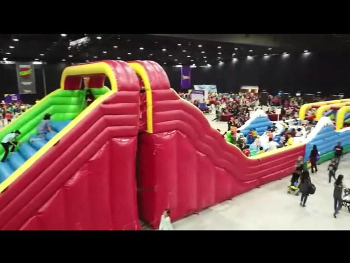 Fun Park Operates Joyful Fun Large Warrior Obstacle Course Well