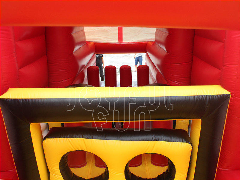 Good Quality Optimus Prime Red Big Inflatable Truck Obstacle Course