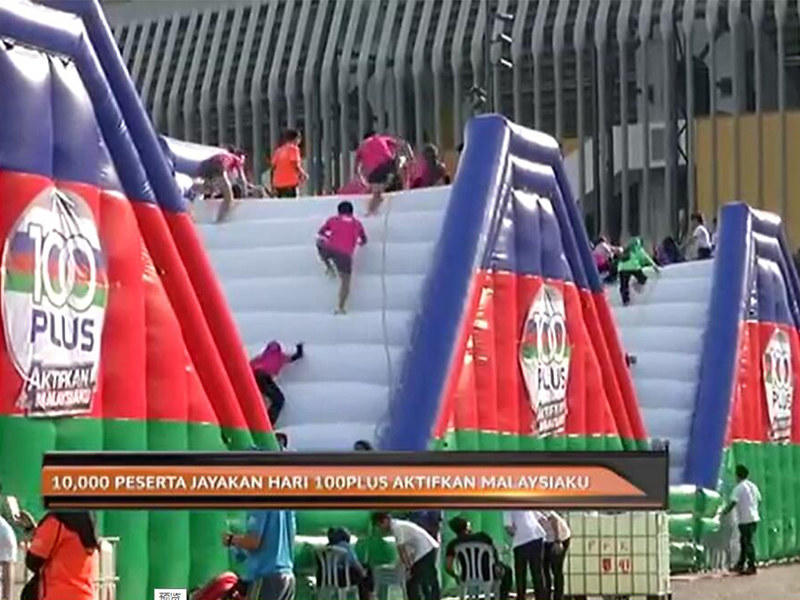 Joyful Fun Large Warrior Inflatable Obstacles for Big Brand Event