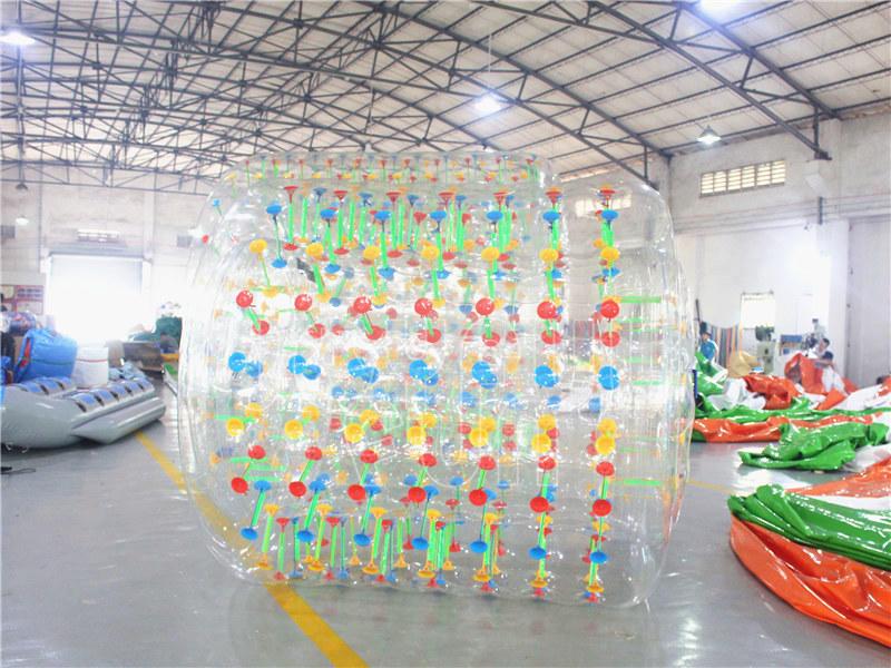 Joyful Fun New Inflatable Game Light Reflective LED Water Roller