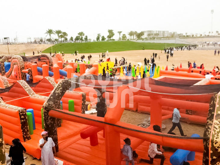 Joyful Fun Inflatable factory OEM manufactures Large Inflatable Obstacle Course