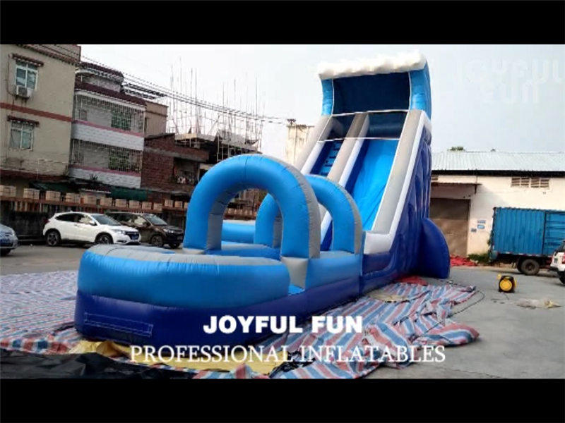 Joyful Fun High Quality Inflatable Wet Slide with Slip and Pool