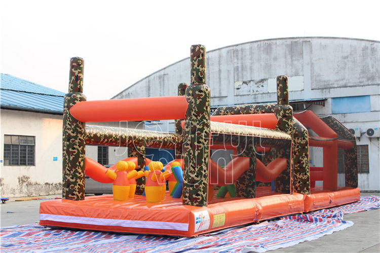 For Dubai Entertainment Brand, Joyful Fun OEM Produces Large Warrior Inflatable Obstacle Course.