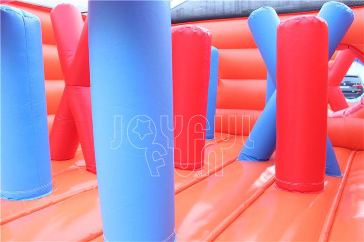For Dubai Entertainment Brand, Joyful Fun OEM Produces Large Warrior Inflatable Obstacle Course.