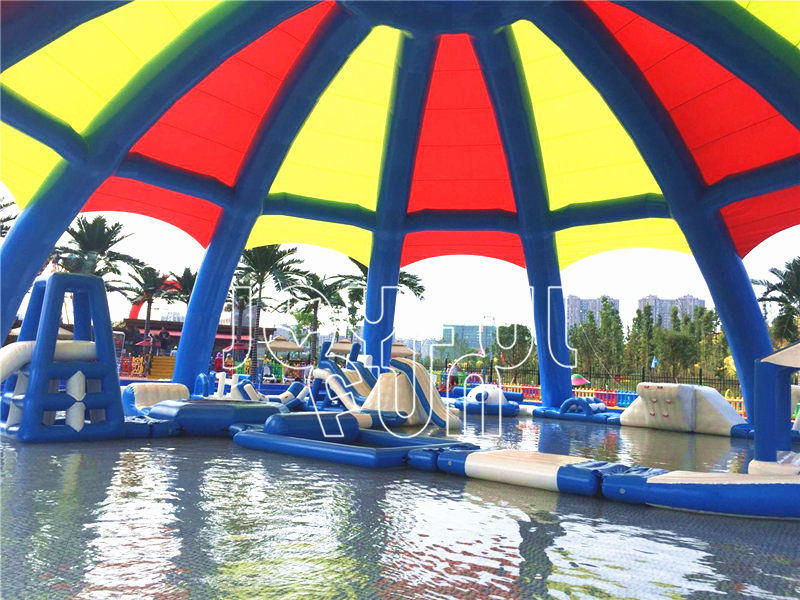 Large Inflatable Airtight Dome Tent and New Medium Inflatable Aqua Park
