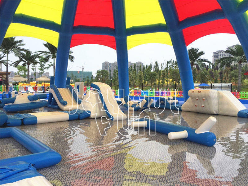 For a Theme Park Large Inflatable Dome Tent and Medium Inflatable Aqua Park