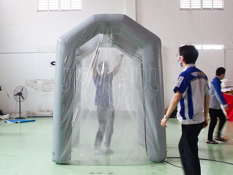 Joyful Fun Inflatable Factory Resist Coronavirus Inflatable Disinfection Chamber Tunnel Tent For All Access or Entrances