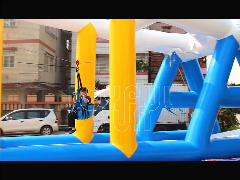 Joyful Fun NEW Inflatable Water Park Zip Line