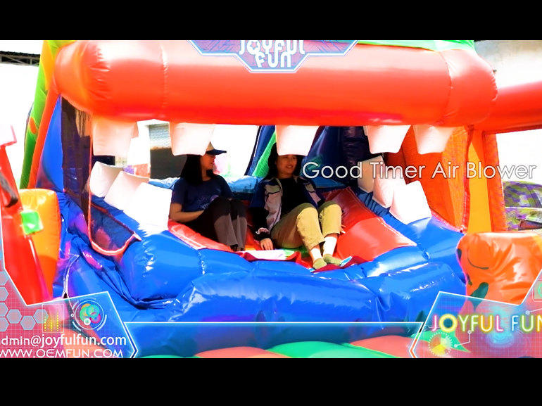 Good quality dragon slide month open-shut inflatable playground.