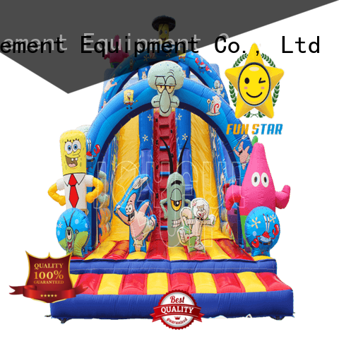 Joyful Fun large giant inflatable slide from China for kids