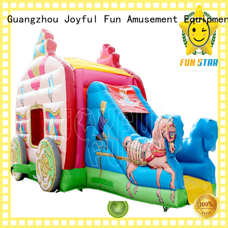 Joyful Fun carriage castle combo bounce house factory for kids