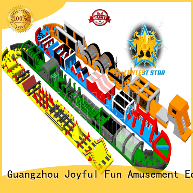 hot selling inflatable obstacle run inflatable customized for lake