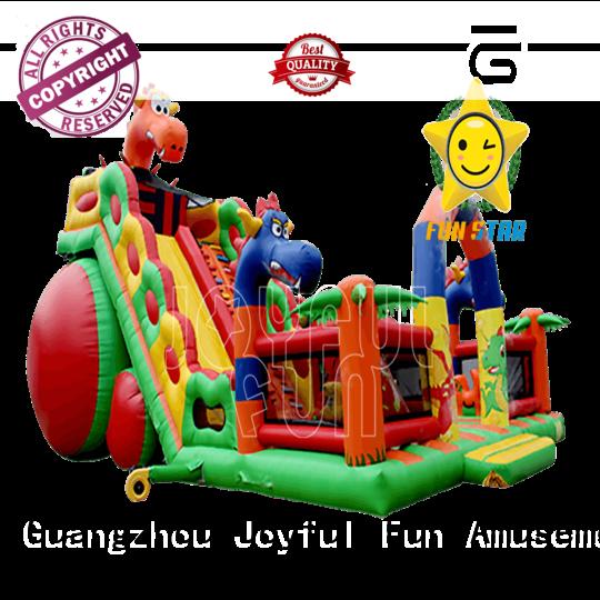 Joyful Fun quality blow up playhouse personalized for lake