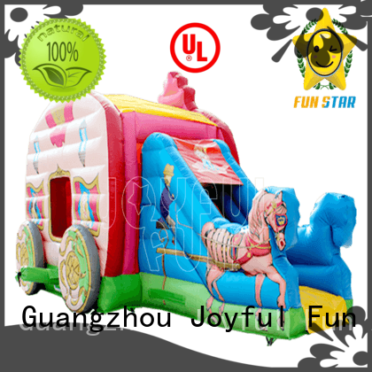 Joyful Fun castle combo bounce house for lake